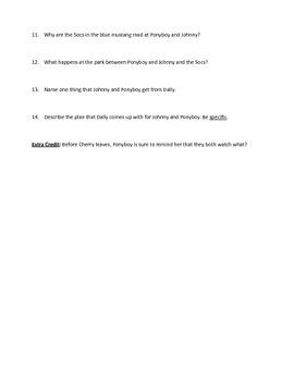 Outsiders Unit: Ch. 1-4 Quiz
