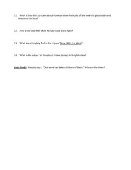 Outsiders Unit: Ch. 9-12 Quiz