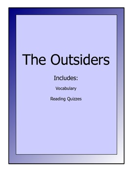 Outsiders novel lesson packet - reading quizzes and vocabulary