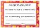 Outstanding Achievement Certificates - Flower Theme
