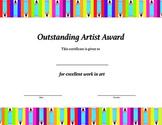 Outstanding Artist Award
