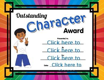 Outstanding Character Award boy 2