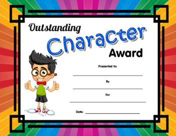 Outstanding Character Award boy