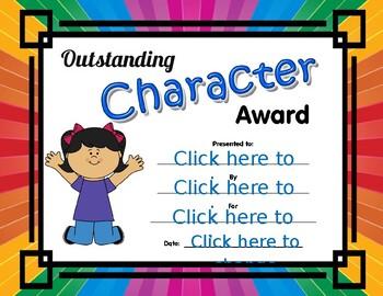 Outstanding Character Award girl