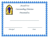 Outstanding Christian Award