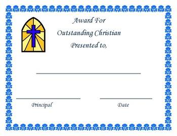 Outstanding Christian Award