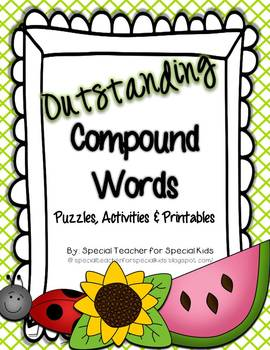 Outstanding Compound Words Activities and Printables {Aligned with Common Core}