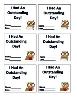 """Outstanding Day"" Ticket"