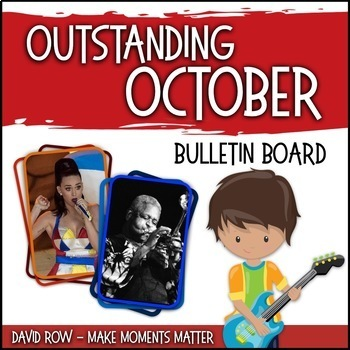 Outstanding October -- Music Bulletin Board Set