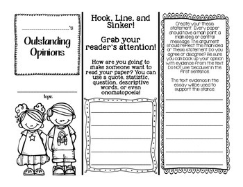 Outstanding Opinion Writing! Pamphlet Graphic Organizer to write a paragraph!