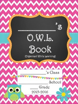 Outstanding Owls ~ O.W.L. Book Student Planner 2015-2016