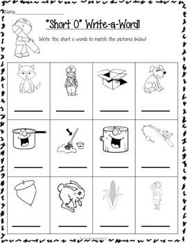 """Outstanding """"Short O"""" Activities for Beginning Readers!"""