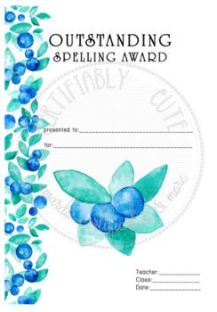 Outstanding Spelling Award