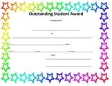 Outstanding Student Award (universal award)