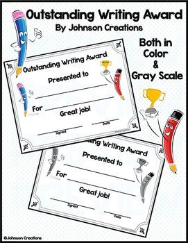 Outstanding Writing Award