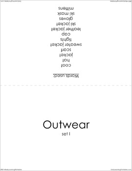 Outwear (set I) Picture Flashcards