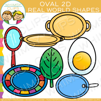 Oval Real Life Objects 2D Shapes Clip Art