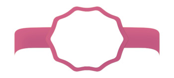 Oval Banners/Frames on Ribbon- 10 colors