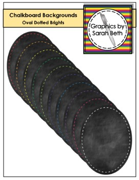 Oval Chalkboard Dotted Line Backgrounds - Clipart - Graphics
