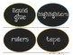 Oval Chalkboard Supply Labels