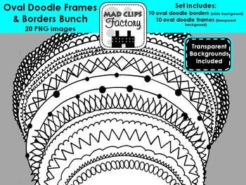 Oval Doodle Frames Bunch