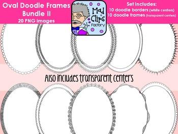 Oval Doodle Frames Bundle 2