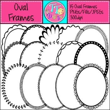Oval Frames Clip Art CU OK
