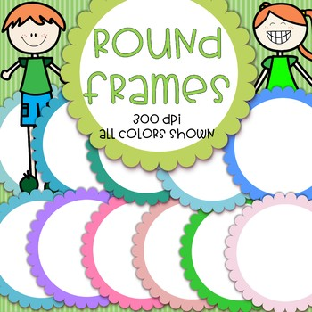 Oval Frames with Scalloped Edges - 12 colors