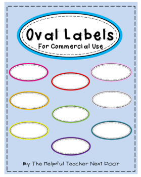 Oval Labels for Commercial Use