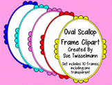 Oval Scallop Frames
