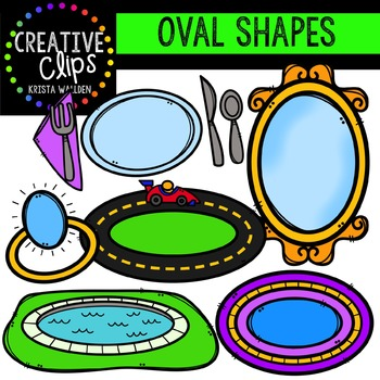 Oval Shapes {Creative Clips Digital Clipart}