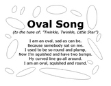 Oval Song with Outlined Ovals to Color In