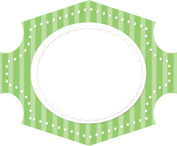 Oval Stitched Striped Frames/Banners - 8 colors
