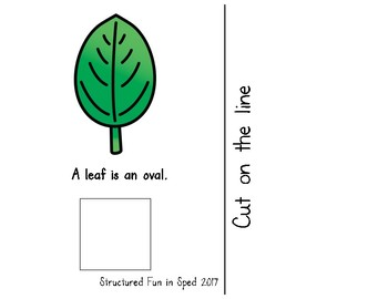 Ovals Adapted Book for Preschool, Pre-K and Special Needs