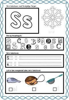 Bokstavinnlæring - alfabetinnlæring