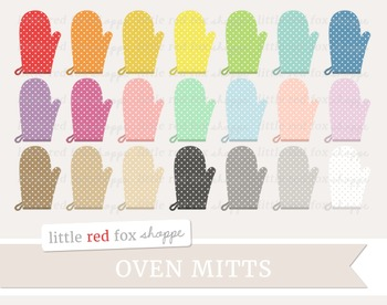 Oven Mitt Clipart; Kitchen, Baking, Cooking