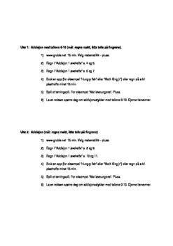 Øveprogram 1 tallene 0-10
