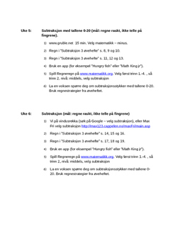 Øveprogram 3 tallene 0-20