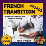 French Transition Words for Beginners to AP, Écriture