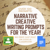 Over 100 Narrative Creative Writing Prompts for the Year!