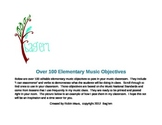 Over 100 Objectives to Post in the Elementary Music Classroom