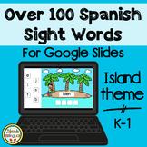Over 100 Spanish Sight Words for Google Slides