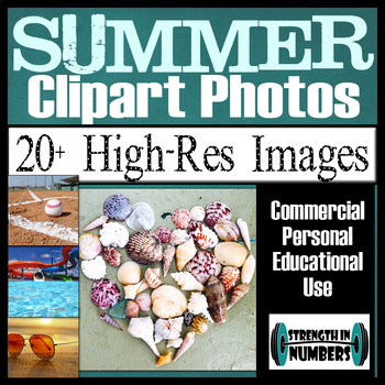 Over 20 SUMMER Photos Clipart High Resolution Commercial Photographs
