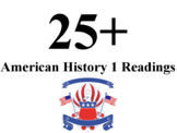 Over 25 American History 1 Readings!