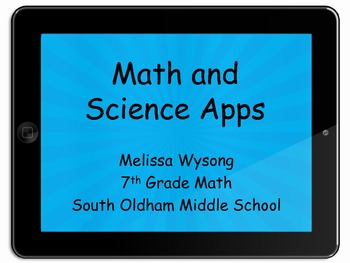 Over 25 Apps For Math and Science