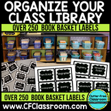 Over 250 BOOK BASKET LABELS to ORGANIZE YOUR LIBRARY {EDITABLE}