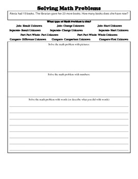 Over 300 Van De Walle Graphic Organizers and Story Problems