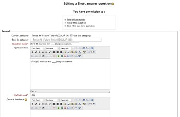 Over 325 Test Questions in Spanish Made For Moodle!