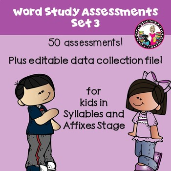 Over 50 Assessments for Spellers in Syllables and Affixes Stage