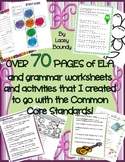 Over 70 pages of grammar & ELA workpages & activities! Full list in description!